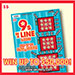 9s In A Line Large scratch ticket
