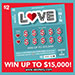 Love To Win scratch ticket